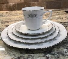 5 PC NORITAKE IVORY CHINA JAPAN SOUTHERN LACE 7301 DINNER SALAD BREAD CUP SAUCER