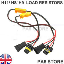 2x H11 H8 50w 6 ohm Load Resistors LED Canbus Error Free Rapid Blinking Flicker