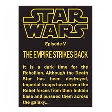 Genuine Star Wars Empire Strikes Back Episode V Opening Crawl Fridge Magnet Gift
