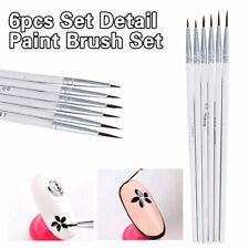 6 Artist Paint Brushes Set Acrylic Oil Miniature Painting Craft Art Model Kit
