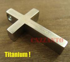 Big size Handmade Titanium Ti Cross necklace pendant anti-allergy