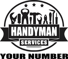 2 X PERSONALISED HANDYMAN SERVICES SIGN VAN CAR VEHICLE GRAPHICS DECALS STICKERS