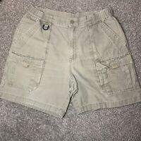 Columbia Sportswear Cargo Shorts Mens Size Medium Outdoor Hiking Dark Khaki