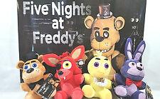 """Rare Set Of 4 Plush 8"""" Five Nights At Freddy's FNAF Freddy Foxy Chica Bonnie Toy"""