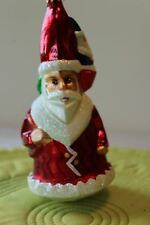 Radko Santa Gnomes Elves on Hat Vintage Early Santa Glass Ornament EUC 6""