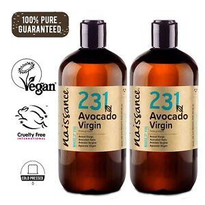 Naissance Avocado Virgin Oil 500ml (2 x 250ml) Moisturising for Skin & Massage