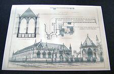 "George Gilbert Scott-la nacional ""campo santo"" - Dibujo Arquitectónico -"