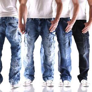 Big Seven XXL Jeans Brian blau comfort fit Herren Cargo Hose Übergröße neu 2ausf