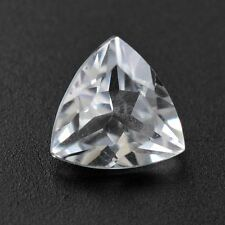 6mm TRILLIANT-FACET TOP ICE-WHITE NATURAL AFRICAN TOPAZ GEMSTONE