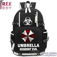 Outdoor Bag Resident Evil School Backpack Umbrella Travel Laptop Shoulder Bags