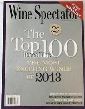 Wine Spectator-Dec 31 2013-Top 100 Most Exciting Wines of 2013-Syrah-Sherry-NY