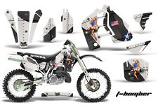 Graphics Kit MX Decal Wrap + # Plates For Honda CR500 CR 500 1989-2001 TBOMBER W