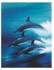 """WYLAND """"DOLPHIN TRIO""""  S/N LITHOGRAPH WITH COA"""