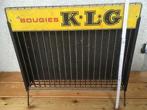 bougie KLG déco garage présentoir publicitaire auto  moto cyclo  no émaillé pub
