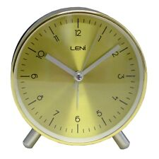 Leni Table Alarm Clock 11cm - Gold
