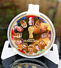 World Cup Russia 2018 Gold Coin Players Map De Gea Mohamed Salah Footballers UK