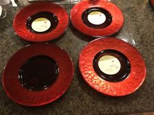 """4 DEBI LILLY ROUGE REFLECTIONS  12.5"""" Charger Plates"""