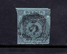 Baden stamp #8, used, SCV $30