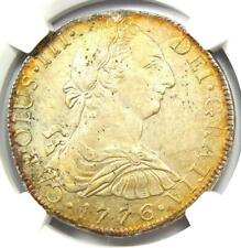 1776-MO FM Mexico Charles III 8 Reales Coin 8R. NGC Uncirculated Detail (UNC MS)