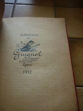 LYON: Almanach du journal Guignol 1932   TBE  relié plein cuir