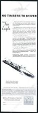 1931 Mullins Special Sea Eagle runabout boat art vintage print ad