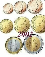 Luxembourg Coins X8 Set 2€ Euro To 1cent Complete 2002 New  UNC From Rolls