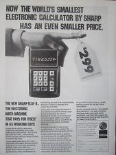 6/1971 PUB SHARP ELECTRONICS ELSI-8 SCIENTIFIC CALCULATOR CALCULATRICE AD