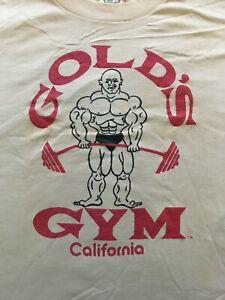 Vintage 80s Gold's Gym Venice California Single Stitch Shirt Workout Size XL