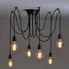 6 Heads Modern Retro Ceiling Light Vintage Industrial Metal E27 Pendant Lamp DIY
