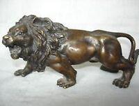 Collectables! Vieux chinois laiton sculpture Lion statue