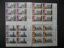 NEW ZEALAND 1982 ARCHITECTURE 3rd SERIES SET PLATE BLOCKS 1B NHM SG1262/5