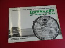 Original NOS 1960's Lambretta J50 JCento J125 M4 50 De Luxe Spares Catalogue