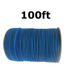 """100ft 1/4"""" Blue Shock Cord Marine Grade Bungee Heavy Duty Tie Down Stretch Rope"""