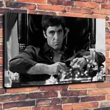 "TONY MONTANA SCARFACE AL PACINO Scatola stampata foto su tela A1.30""x20"" 30 mm deep"