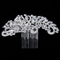 Rhinestone Crystal Women Bridal Hairpins Comb Headpiece Hair Accessories
