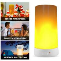 LED Flame Lamp USB Rechargeable Smart Remote Night Outdoor Flickering Light R3B8