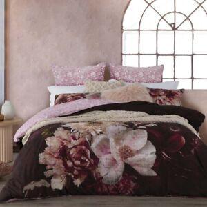 Logan and Mason Rosetta Plum Duvet Doona Quilt Cover Set 3 Bed Sizes