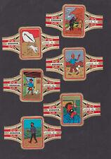 Série complète 24 grosses Bagues de Cigare Senator BN78805 Tintin et Milou