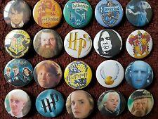 Harry Potter Button Badges x 20 (Set 3). Pins. Wholesale. Collector. Bargain :0)