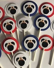 30 MICKEY MOUSE CAPTAIN NAUTICAL Cupcake Toppers Birthday Party, Baby Shower  30
