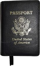 New Leather passport cover, Black Unbranded international leather passport case