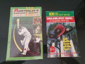 CRICKET ~ THE  AUSTRALIAN CRICKET GLORY, VHS, & 1979 -80 . ABC CRICKET BOOK