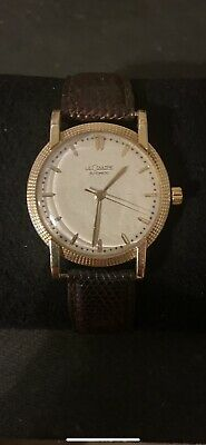 Jaeger LeCoultre 14k Solid Gold Men's Automatic Watch Rare And Collectable