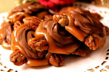 Gourmet Handmade Chocolate Butter Pecan Clusters Turtles with Choice of Caramel