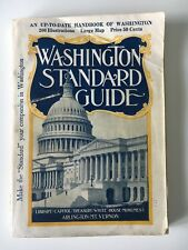 Vintage 1927 Washington Standard Guide With Fold-out map Wash DC travel book