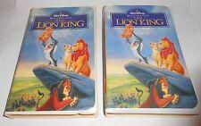 2-Disney The Lion King VHS, 1995