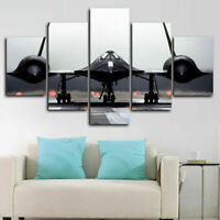 SR-71 Blackbird Aircraft 5 Pieces Canvas Print Poster HOME DECOR
