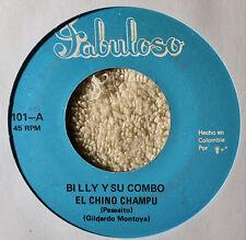 Billy y Su Combo El Chino Champu 45 Latin Spanish Mexican Fabuloso Aguacerito