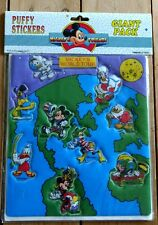 VINTAGE MICKEY MOUSE WORLD TOUR PUFFY STICKERS GIANT PACK  & FRIENDS 210503
