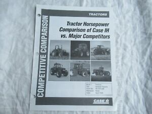 Case CASEIH tractor hp comparison brochure AGCO John Deere New Holland Kubota